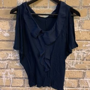NWOT Navy Blue Gap Blouse Size Small